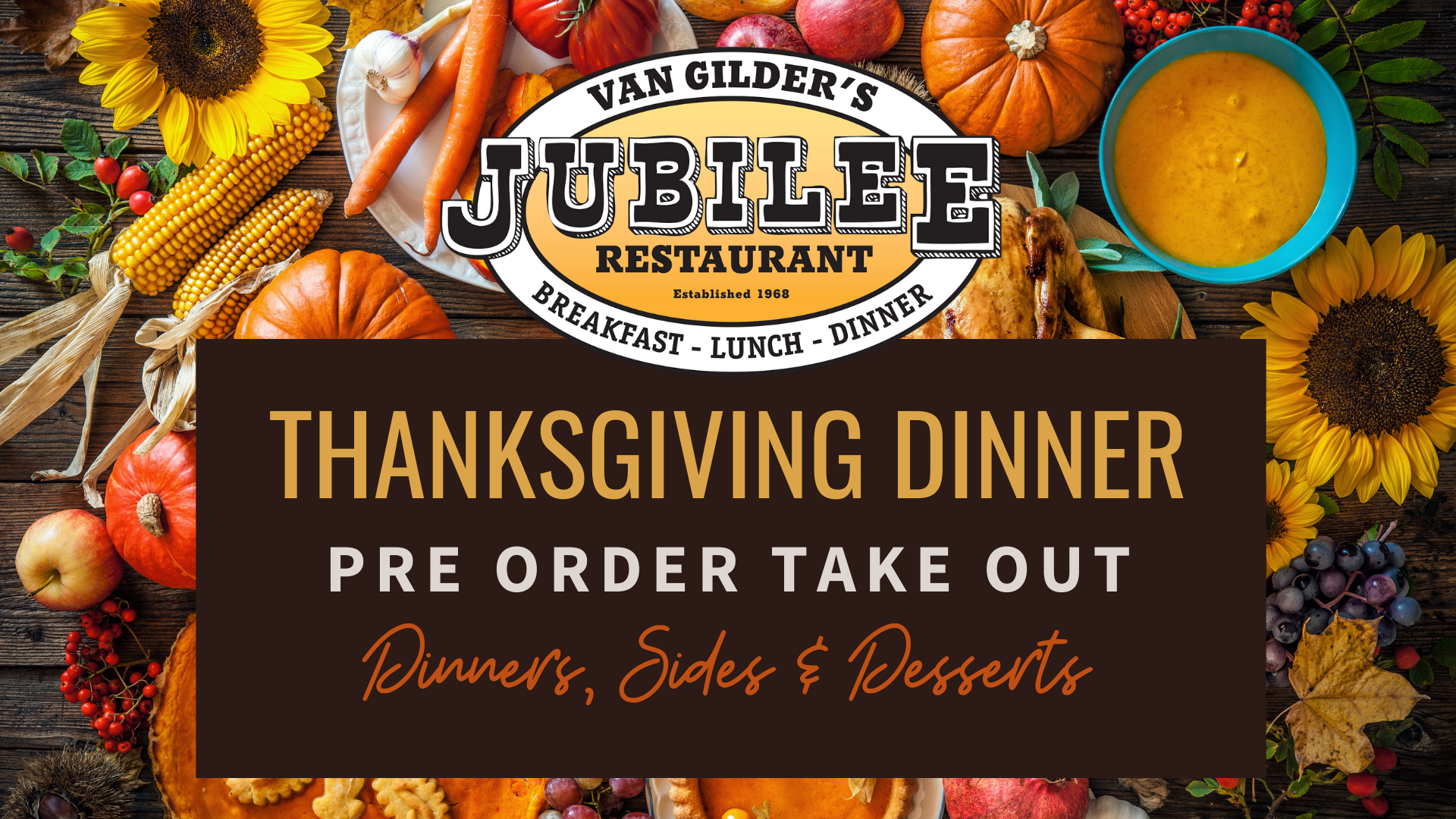 Thanksgiving Take Out Dinner